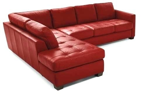 Red Leather Sectional Couch The Aura Of Design Red Leather Sectional With Red Leather Sectional Couches (Image 7 of 10)