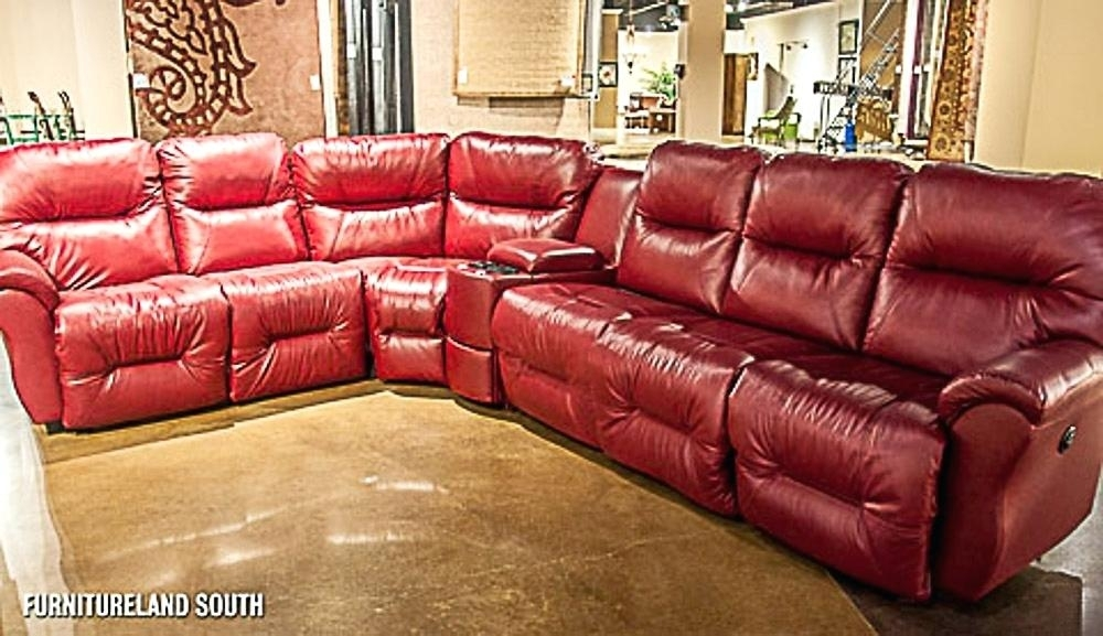 Featured Image of Red Leather Sectional Sofas With Recliners