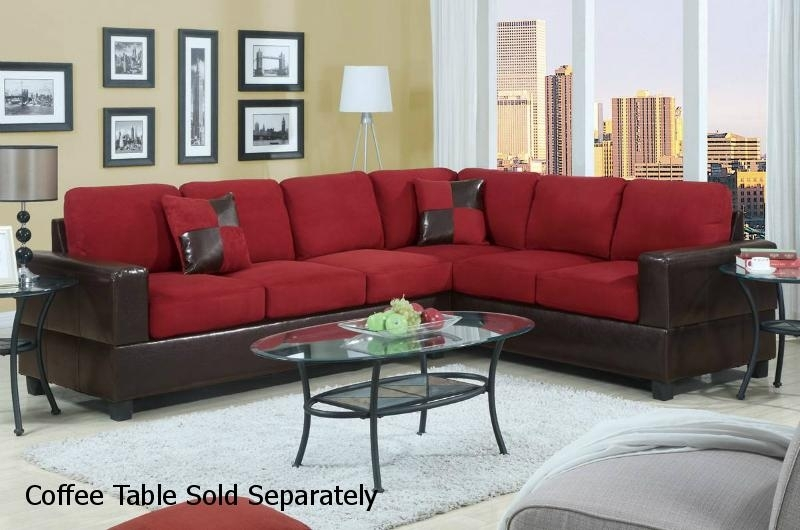Red Leather Sectional Sofa – Steal A Sofa Furniture Outlet Los With Red Sectional Sofas (Image 8 of 10)