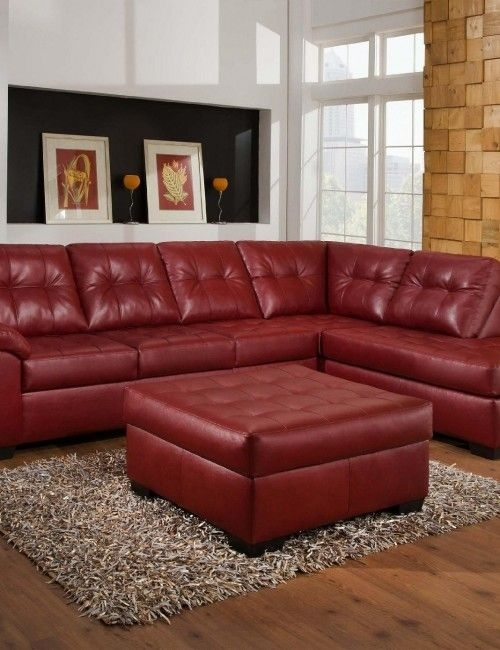Red Leather Sectional Sofa With Ottoman | Sofas & Futons | Pinterest In Red Leather Sectional Sofas With Ottoman (Image 8 of 10)