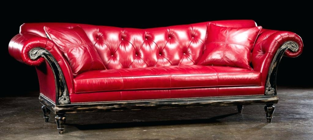 Red Leather Sofa Red Leather Sofa – Mymatchatea (Image 6 of 10)