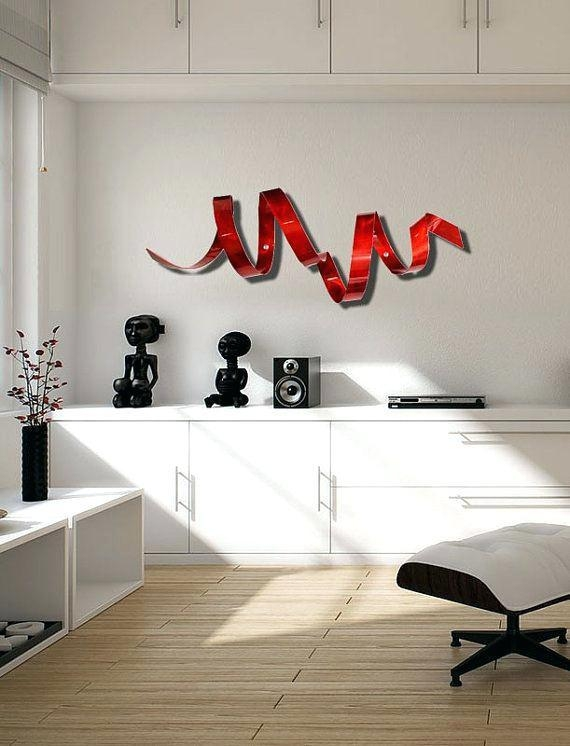 Red Metal Wall Decor – Freecolors With Regard To Abstract Outdoor Metal Wall Art (Image 16 of 20)