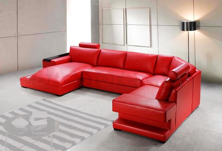 Red Reclining Sectional Sofas 13 Extraoradinary Red Sectional Red With Regard To Red Leather Sectional Couches (Image 8 of 10)