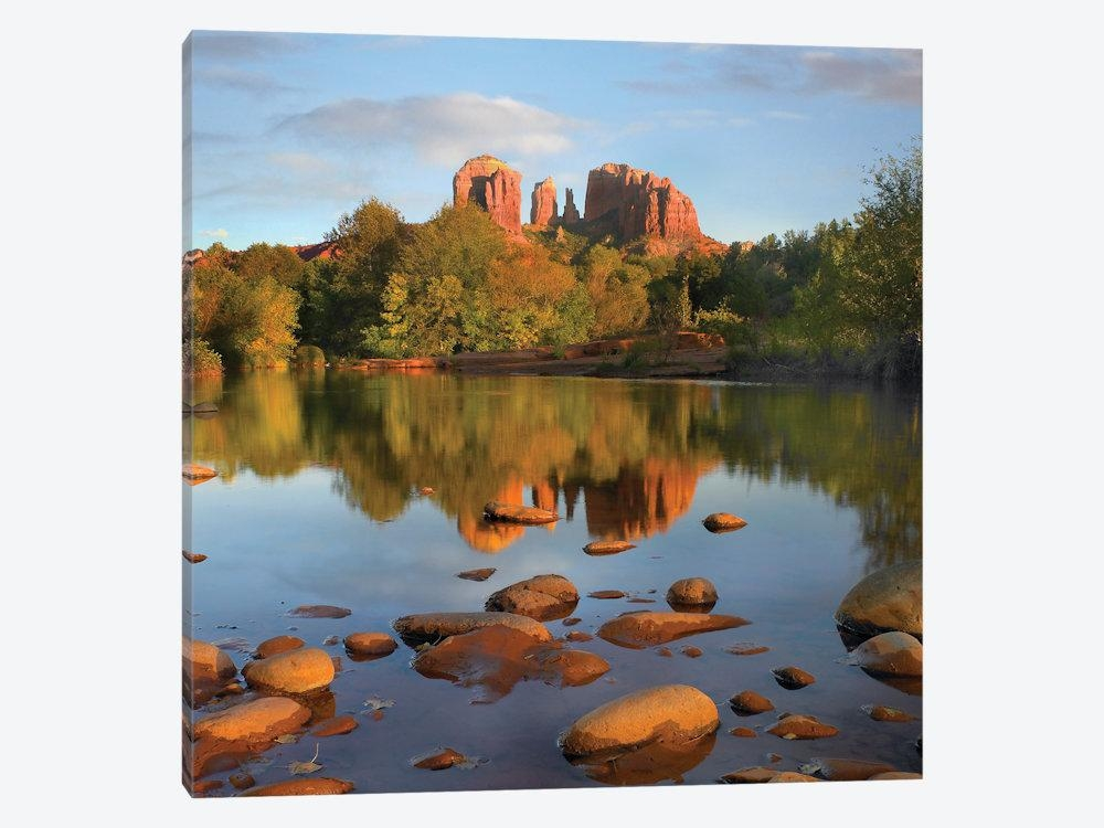 Red Rock Crossing, Arizona Canvas Wall Arttim Fitzharris | Icanvas Pertaining To Arizona Canvas Wall Art (Image 17 of 20)