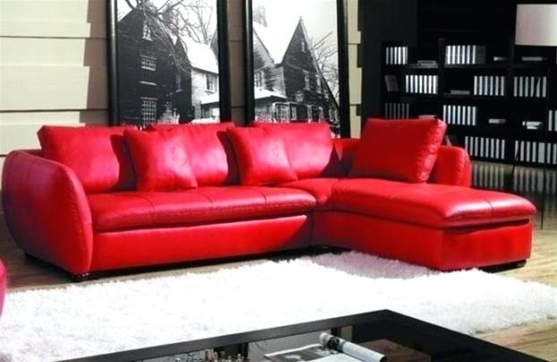 Red Sectional Sofa | Adrop Regarding Red Leather Sectionals With Chaise (Photo 3 of 10)