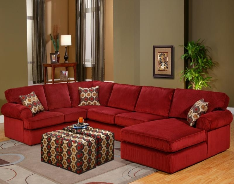 Red Sectional Sofa Be Equipped Red Leather Sectional Sofa With Inside Red Sectional Sofas With Ottoman (View 2 of 10)