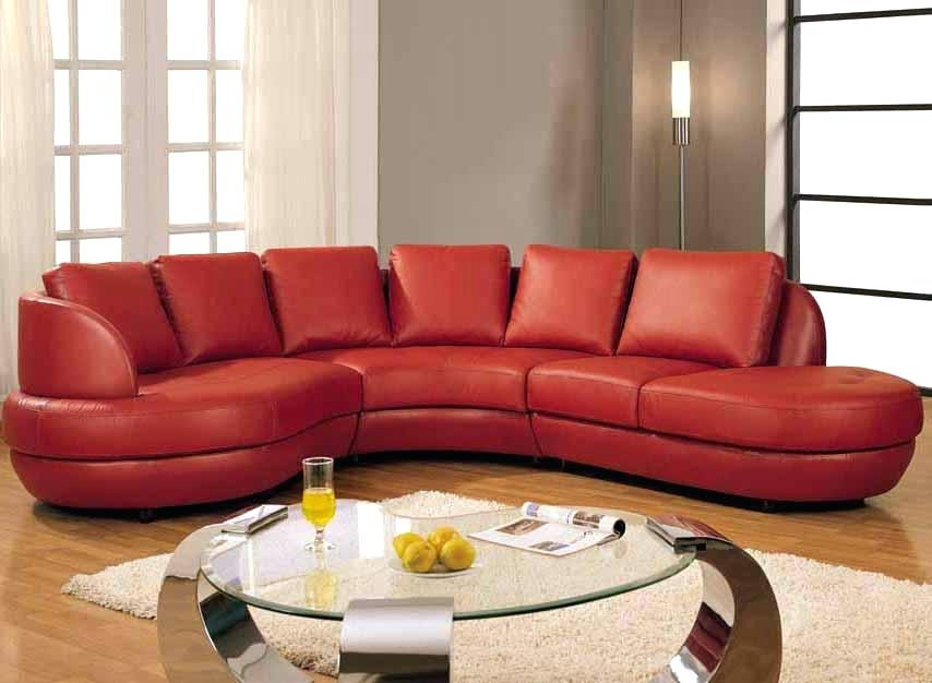 Red Sectional Sofa | Bemine (Image 7 of 10)