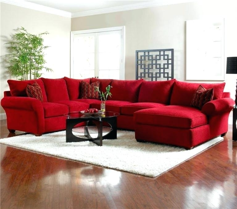 Red Sectional Sofa With Chaise | Catosfera Throughout Red Sectional Sofas (View 10 of 10)