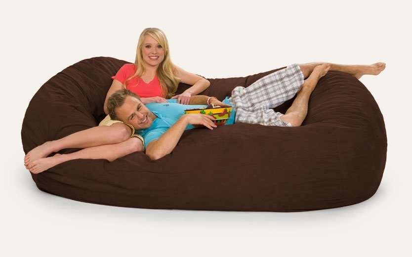 Relax Sacks Giganti Bean Bag Sofa & Reviews | Wayfair Throughout Bean Bag Sofas (Image 9 of 10)