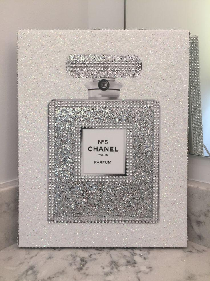 Remarkable Ideas Glitter Wall Art 8 Best Chanel Canvas Art Glitter Regarding Glitter Canvas Wall Art (Image 13 of 20)