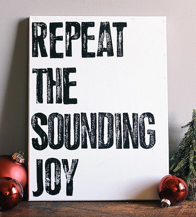 Repeat The Sounding Joy Canvas Wall Art | Art Prints & Posters With Joy Canvas Wall Art (Image 18 of 20)