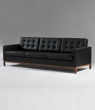 Replica Florence Knoll Wooden Based 3 Seater Sofa #lifeinteriors For Florence Knoll 3 Seater Sofas (Image 10 of 10)