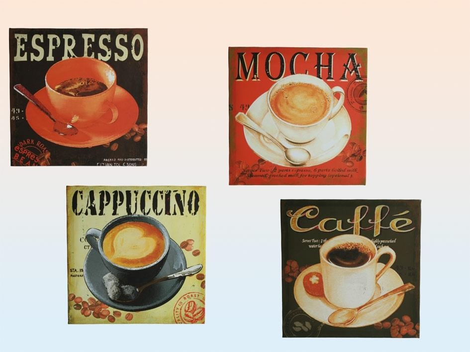 Retro Gifts Throughout Coffee Canvas Wall Art (Image 16 of 20)