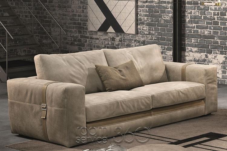 Richmond Leather Sofagamma Arredamenti | Room Service 360° Regarding Richmond Sofas (Image 7 of 10)