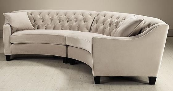 Riemann Curved Tufted Sectional – Sofas And Loveseats – Living Room Throughout Rounded Sofas (Photo 1 of 10)