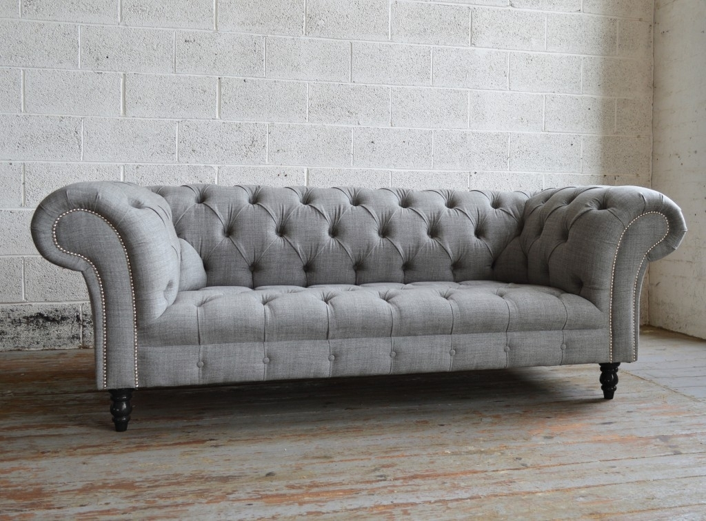 Romford Wool Chesterfield Sofa | Abode Sofas With Chesterfield Sofas (Image 9 of 10)