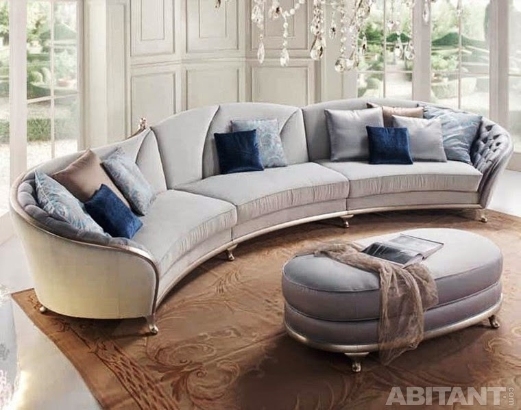 Round And Curved Sofa With Original Accent Furniture Kerala Home For Round Sectional Sofas (Image 9 of 10)