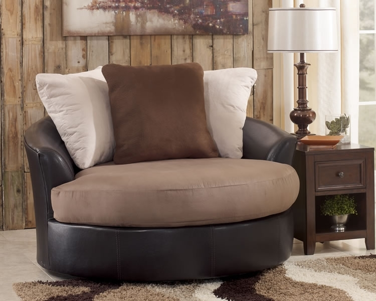 Round Oversized Swivel Accent Chair (Image 8 of 10)