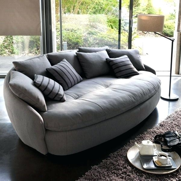 Round Sofas Furniture Stunning Round Sofa Chair Living Room Inside Round Sofas (Image 6 of 10)