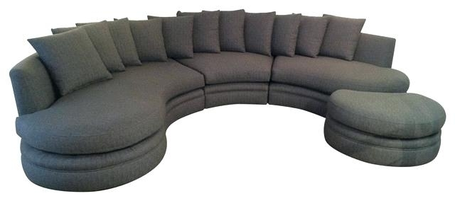Rounded Couch Furniture Casual Sofa With Rounded Seat Back Round In Round Sofas (Image 7 of 10)