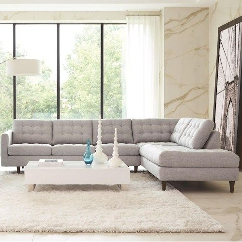 Rowe Modern Mix Contemporary Sectional Sofa With Chaise | Living Intended For Kingston Ontario Sectional Sofas (Image 5 of 10)