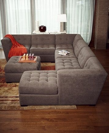Roxanne Fabric Modular Living Room Furniture Collection, Only At Intended For Macys Sectional Sofas (Image 7 of 10)