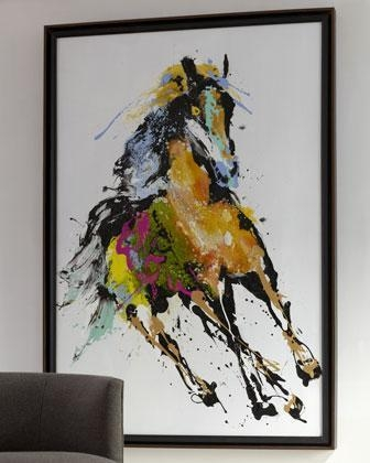 Running In The Wind' Abstract Wall Art – Neiman Marcus Intended For Abstract Horse Wall Art (Image 14 of 20)