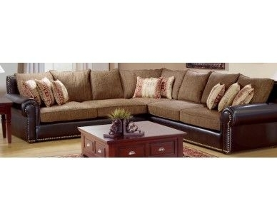 Rustic 3Pc Sectional – Faux Leather – Sam Levitz Furniture | New Inside Sam Levitz Sectional Sofas (Photo 1 of 10)