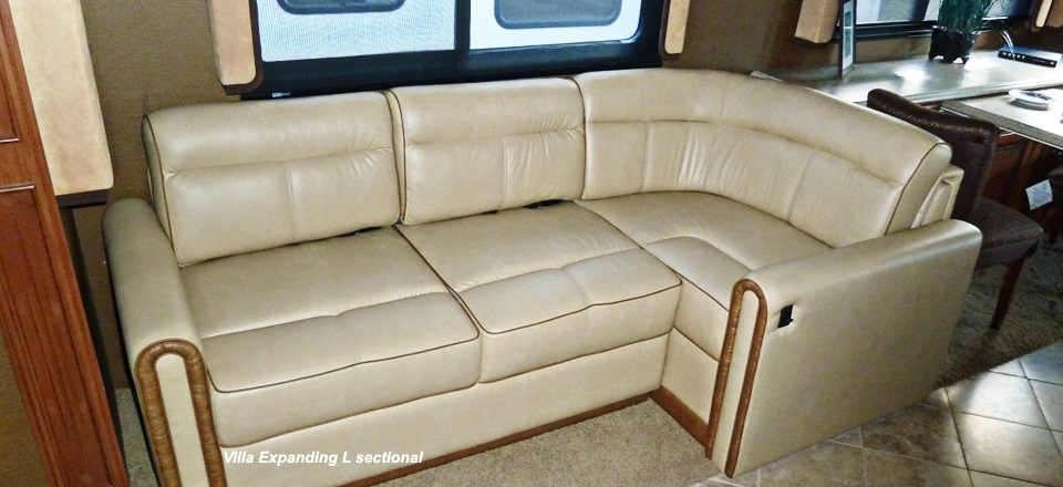 Rv Motorhome Furniture : Luxury White Rv Motorhome Furniture Picture Inside Sectional Sofas For Campers (View 10 of 10)
