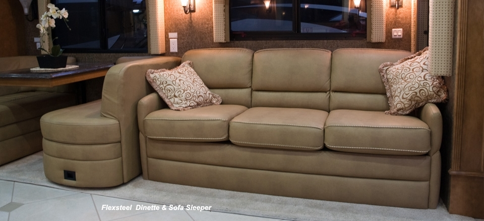 Rv Motorhome Furniture : Luxury White Rv Motorhome Furniture Picture Throughout Sectional Sofas For Campers (View 8 of 10)