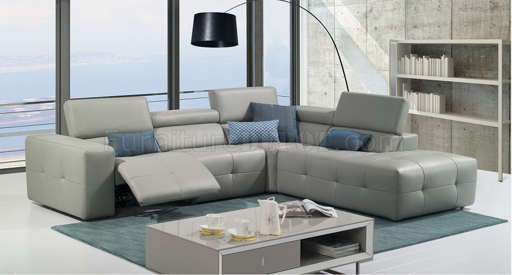 S300 Reclining Sectional Sofa In Premium Leatherj&m Intended For Reclining Sectional Sofas (Image 6 of 10)