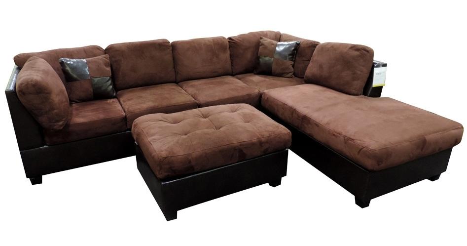 Sacramento Chocolate Sectional Sofa With Left Facing Chaise At Gowfb With Sacramento Sectional Sofas (Image 6 of 10)
