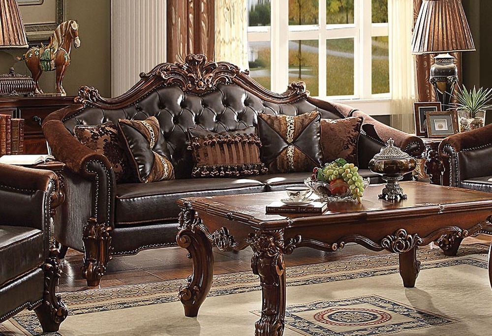 Sally Victorian Style Leather Sofa Popular For 8 | Walkforpat With Victorian Leather Sofas (Image 7 of 10)
