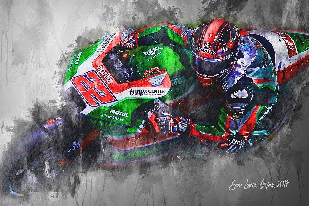Sam Lowes | Canvas Wall Art Print | Moto Gp | Motorsport Art Regarding Lowes Canvas Wall Art (View 18 of 20)