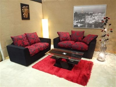 Samantha 3&2 Sofa Set – Noct Offs Throughout Red And Black Sofas (Image 8 of 10)