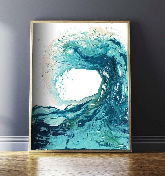 Sandbanks Wave I Print – This Is One Of My Favourite Prints And For Abstract Nautical Wall Art (View 3 of 20)