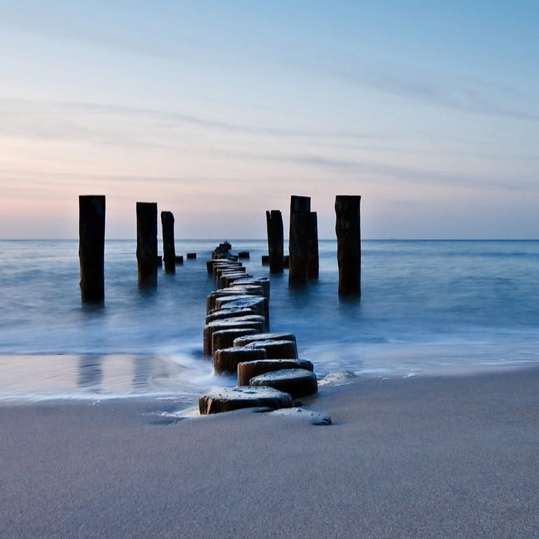 Seasccape Jaunt Broken Jetty Printed Canvas Wall Art Eluxury Home Throughout Jetty Canvas Wall Art (View 9 of 20)