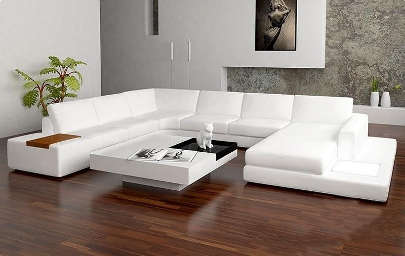 Sectional Contemporary Sofa | Tosh Furniture Modern Bonded Leather Throughout White Sectional Sofas (Image 4 of 10)