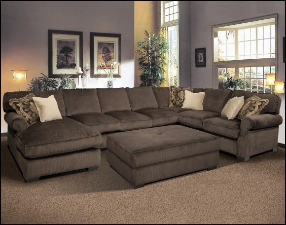 Sectional Couches With Ottomans | Couch & Sofa Gallery | Pinterest Pertaining To Sectional Couches With Large Ottoman (Image 7 of 10)