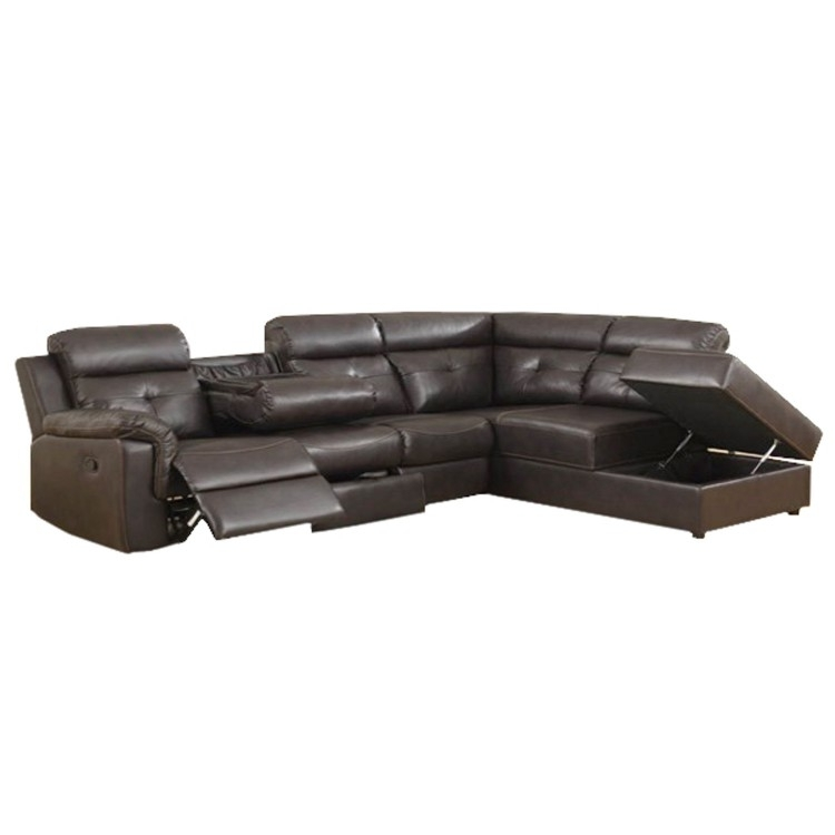 Sectional | Florence Brown Leather | Lastman's Bad Boy With Regard To Sectional Sofas At Bad Boy (View 5 of 10)