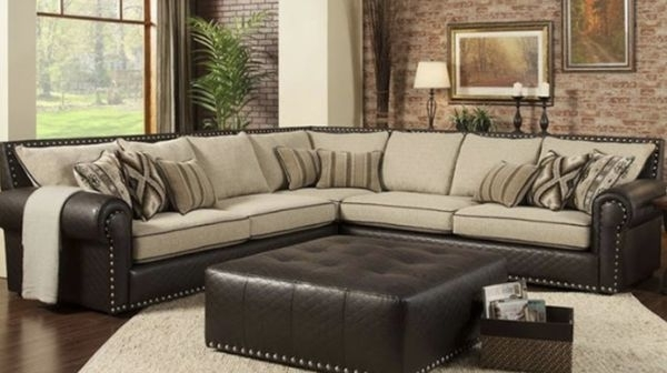 Sectional Includes 50X50 Ottoman New Many Colors To Choose From With Visalia Ca Sectional Sofas (Image 7 of 10)