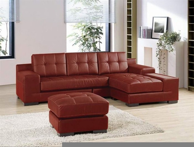 Sectional Leather Sofas And Also Leather Sectional Sofa With Chaise Regarding Small Red Leather Sectional Sofas (Image 9 of 10)