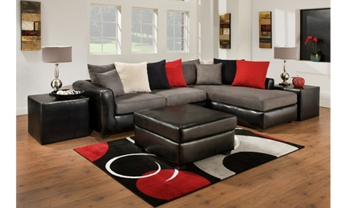 Sectional Living Room Set Furniture In Black Throughout Austin Sectional Sofas (Image 5 of 10)