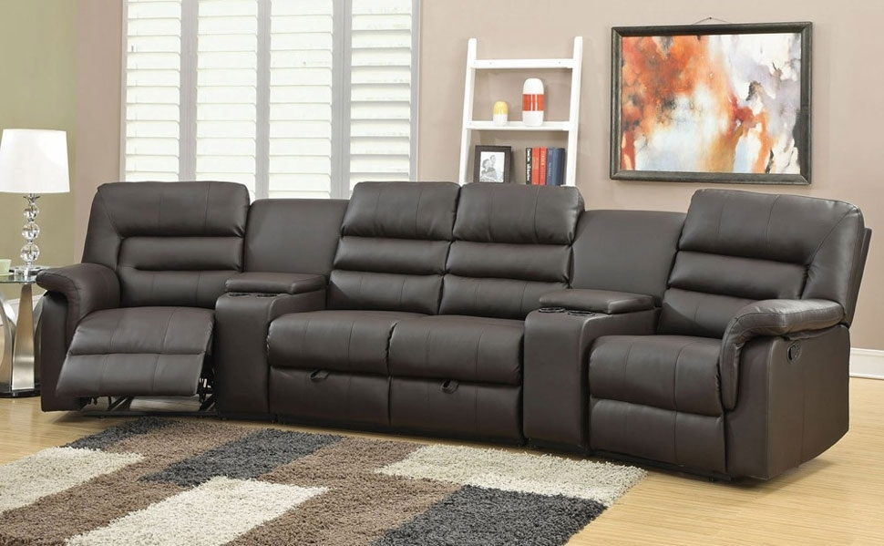 Sectional Sofa: Astonishing Theatre Sectional Sofas Home Theater Regarding Theatre Sectional Sofas (Image 9 of 10)