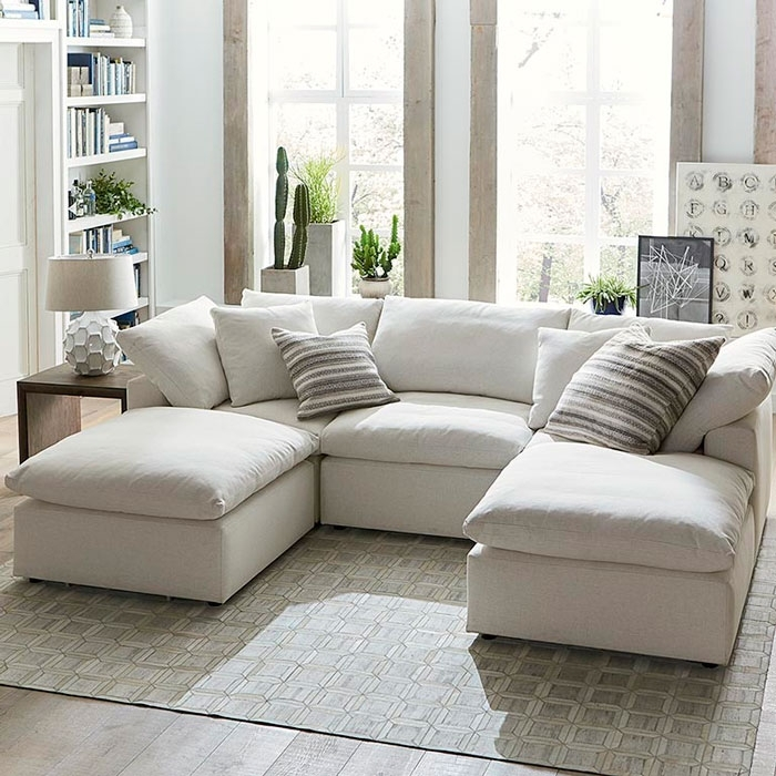 Sectional Sofa: Couture Sectional Sofa With 2 Chaises Couch With Two Throughout Sectional Sofas With 2 Chaises (Image 4 of 10)