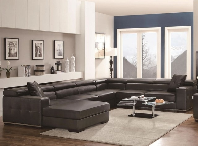 Sectional Sofa Design: Adorable Large U Shaped Sectional Sofa Best U Within Large U Shaped Sectionals (Image 7 of 10)