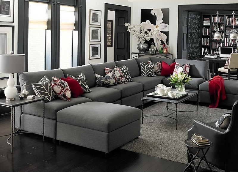 Sectional Sofa Design: Adorable Large U Shaped Sectional Sofa Big U For Big U Shaped Sectionals (Image 8 of 10)