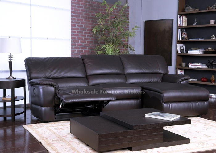 Sectional Sofa Design: Amazing Leather Sectional Sofa Recliner With Leather Recliner Sectional Sofas (View 5 of 10)