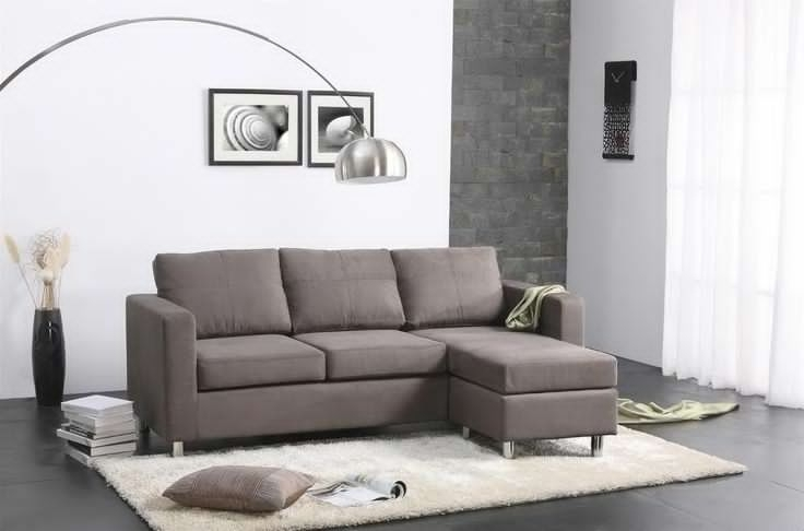 Sectional Sofa Design: Apartment Sectional Sofa Chaise Leather Mini Inside Apartment Sectional Sofas With Chaise (Image 7 of 10)