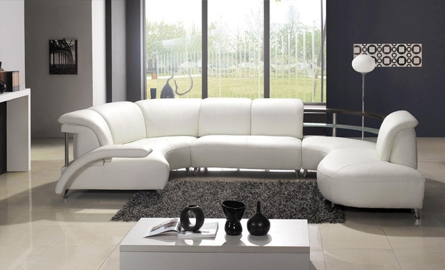 Sectional Sofa Design: Awesome U Shaped Leather Sectional Sofa U Within Modern U Shaped Sectionals (Image 7 of 10)